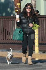 SELMA BLAIR Walks Her Dog Out in Studio City 01/24/2017