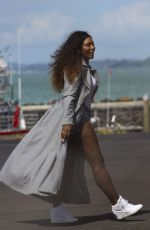 SERENA WILLIAMS Boarding a Helicopter in Auckland 12/31/2016