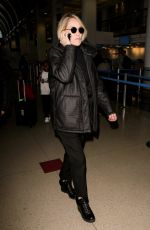 SHARON STONE at LAX Airport in Los Angeles 01/11/2017