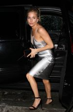 SIENNA MILLER Leaves a Golden Globes Afterparty in West Hollywood 01/08/2017