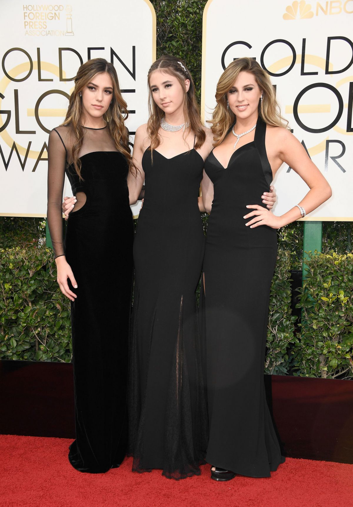 SISITNE, SOPHIA and SCARLET STALLONE at 74th Annual Golden Globe Awards in Beverly Hills 01/08/2017