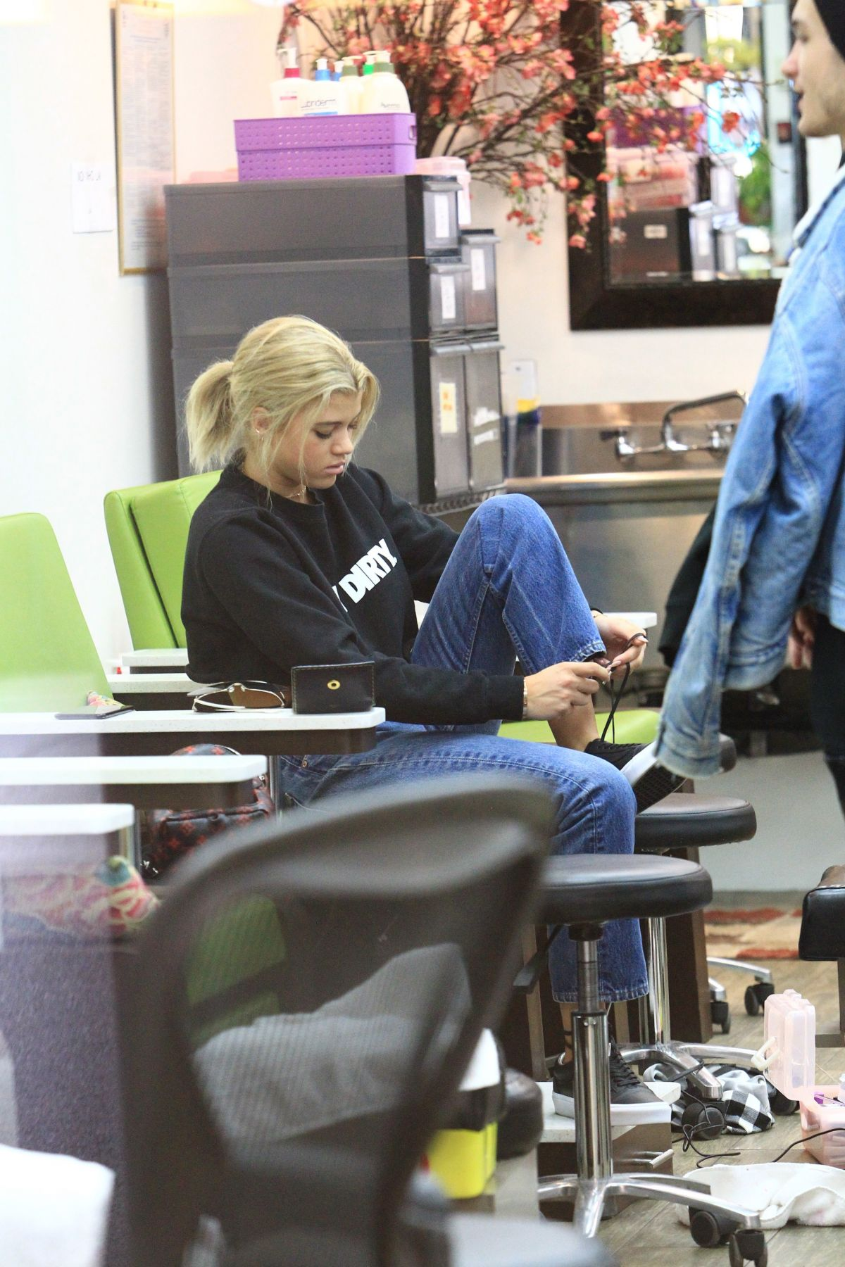 SOFIA RICHIE at a Nail Salon in Beverly Hills 01/09/2017