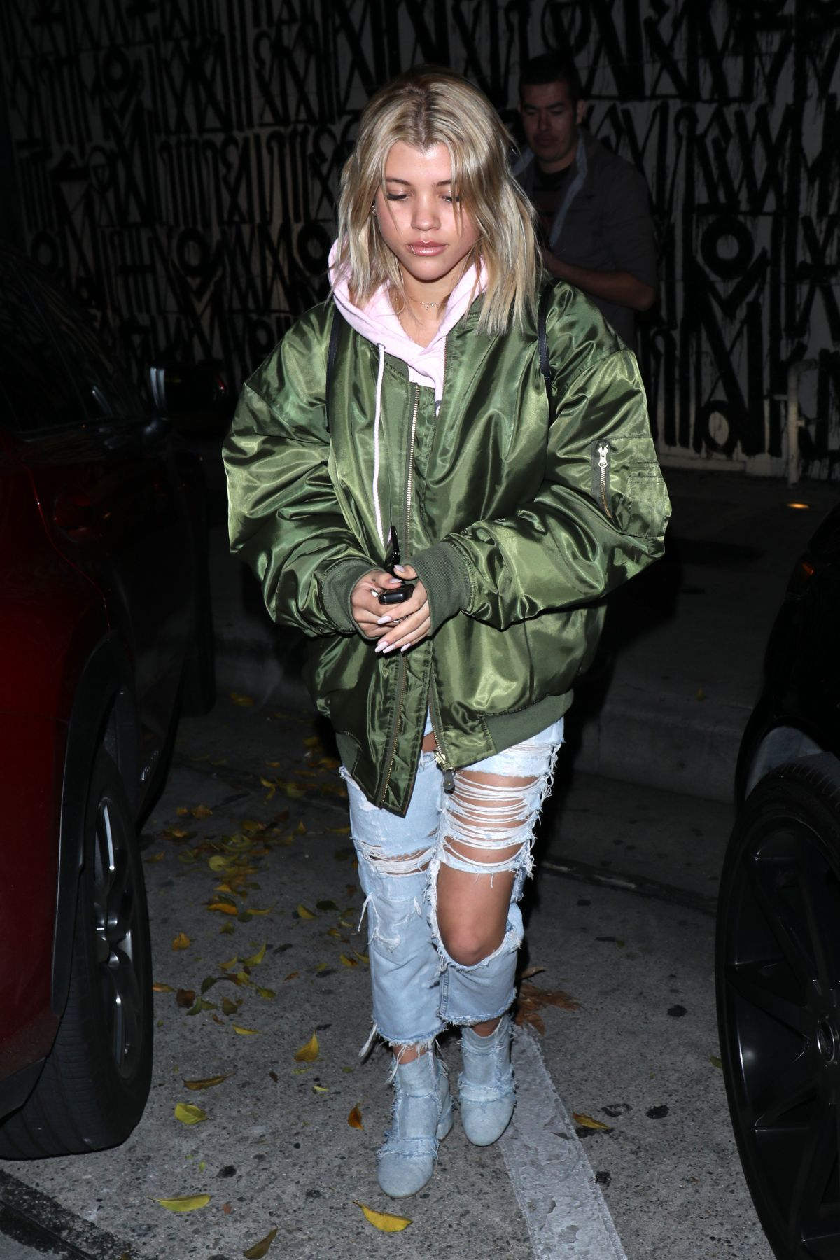 SOFIA RICHIE Leaves a Dinner in West Hollywood 01/16/2017