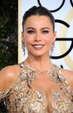 SOFIA VERGARA at 74th Annual Golden Globe Awards in Beverly Hills 01/08/2017