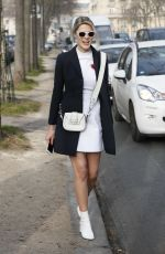 SOFIE VALKIERS Arrives at Christioan Dior Fashion Show in Paris 01/23/2017