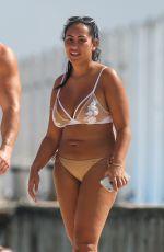 SOPHIE KASAEI in Bikini with Her Boyfriend on the Beach in Cancun 01/05/2017
