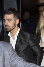 SOPHIE TURNER and Joe Jonas Leaves Craig
