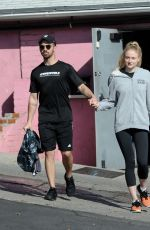 SOPHIE TURNER and Joe Jonas Out in Los Angeles 01/06/2017
