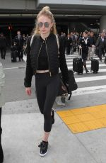 SOPHIE TURNER Arrives at LAX Airport in Los Angeles 01/04/2017