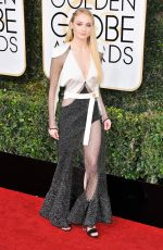 SOPHIE TURNER at 74th Annual Golden Globe Awards in Beverly Hills 01/08/2017