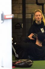 SOPHIE TURNER at a Gym in West Hollywood 01/05/2017