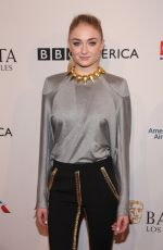 SOPHIE TURNER at Bafta Tea Party in Los Angeles 01/07/2017