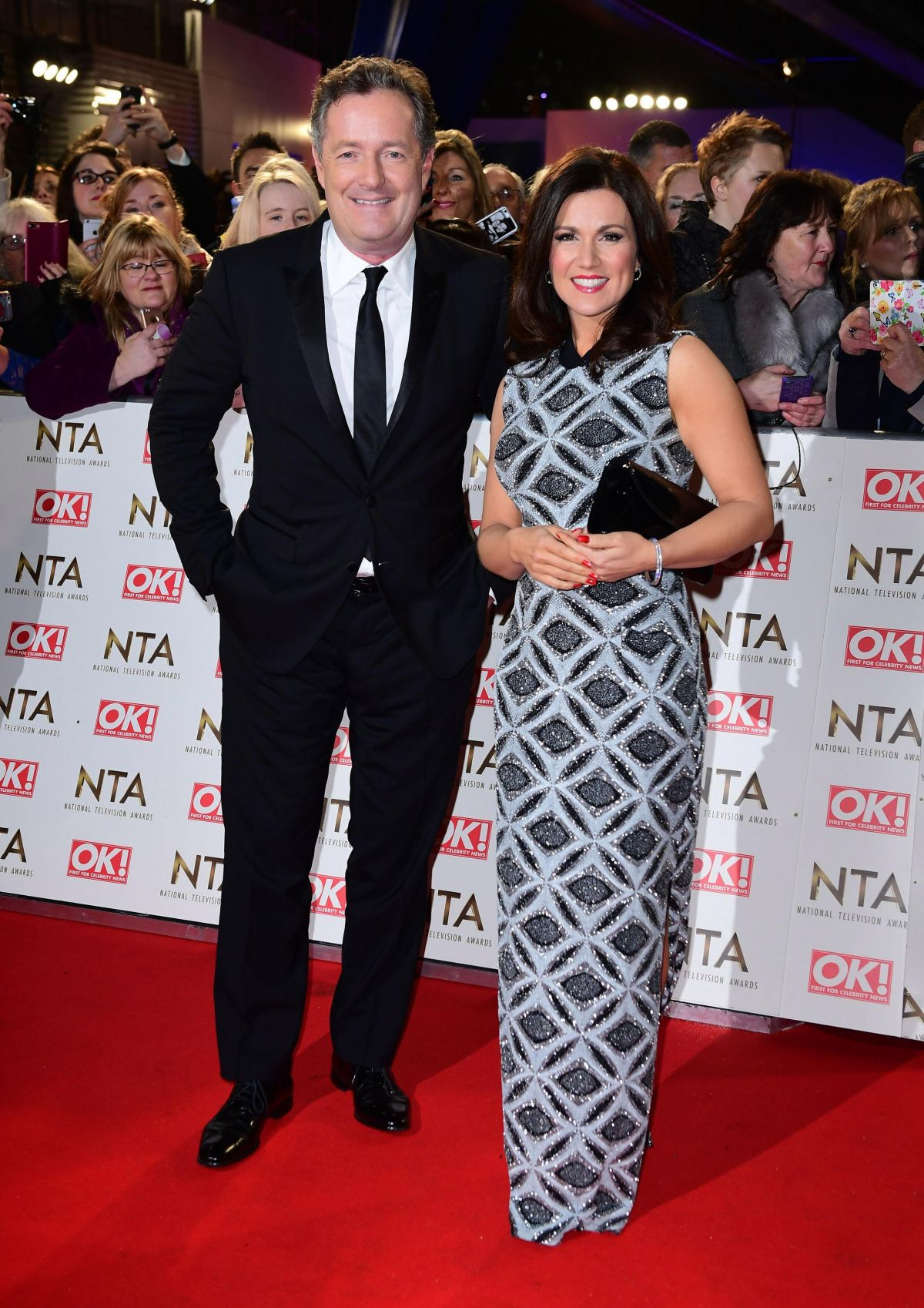 SUSANNA REID at National Television Awards in London 01/25/2017