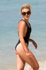 TALLIA STORM in Swimsuit on the Beach in Barbados 01/03/2017