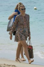 TALLIA STORM Out at a Beach in Barbados 01/01/2017