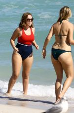 TANYA BURR in Bikini at a Beach in Miami 01/24/2017