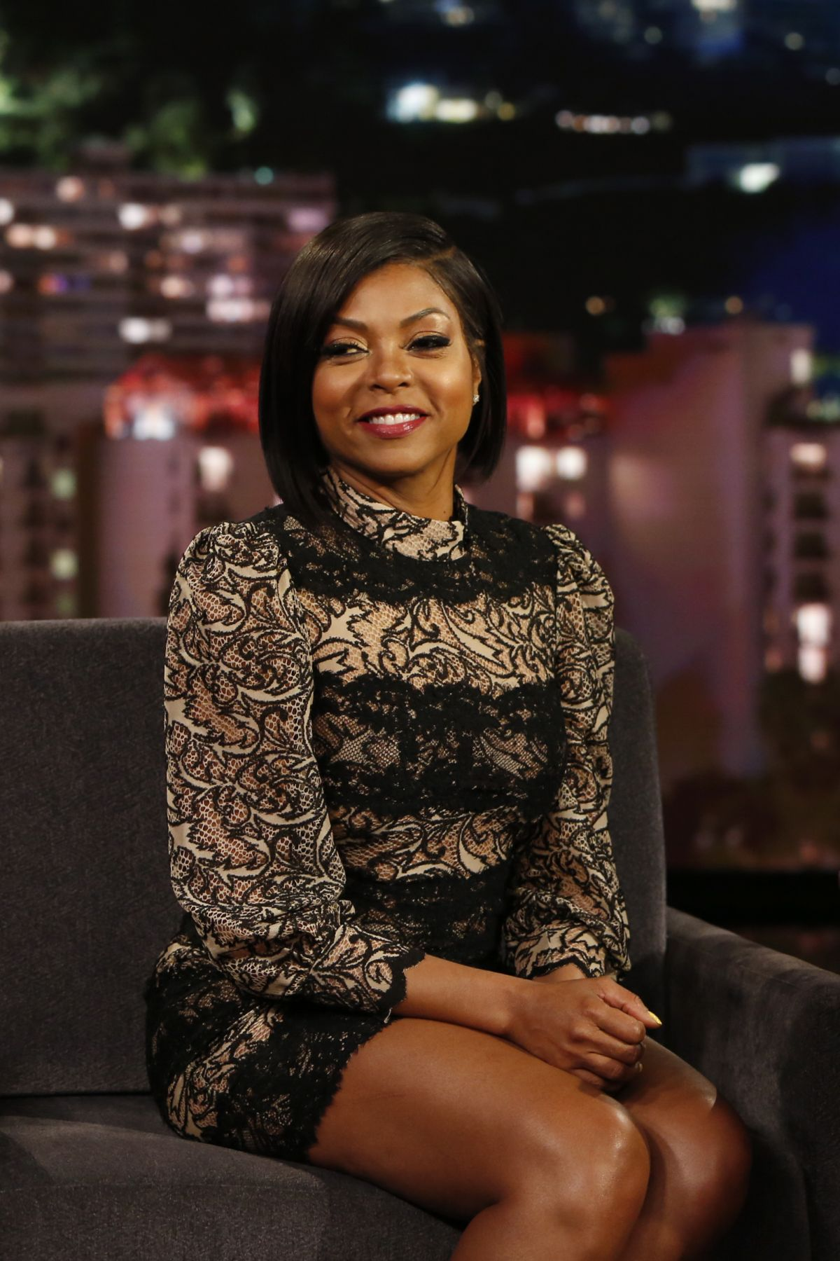 TARAJI P. HENSON at Jimmy Kimmel Live in HOllywood 01/03/2017