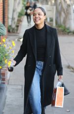 TESSA THOMPSON Out and About in West Hollywood 01/06/2017