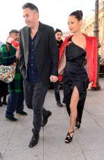 THANDIE NEWTON Arrives at Schiapparelli Fashion Show in Paris 01/23/2017