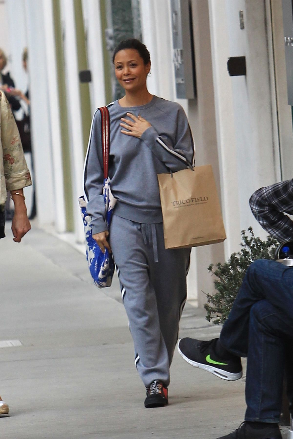 THANDIE NEWTON Out Shopping In Beverly Hills 01092017