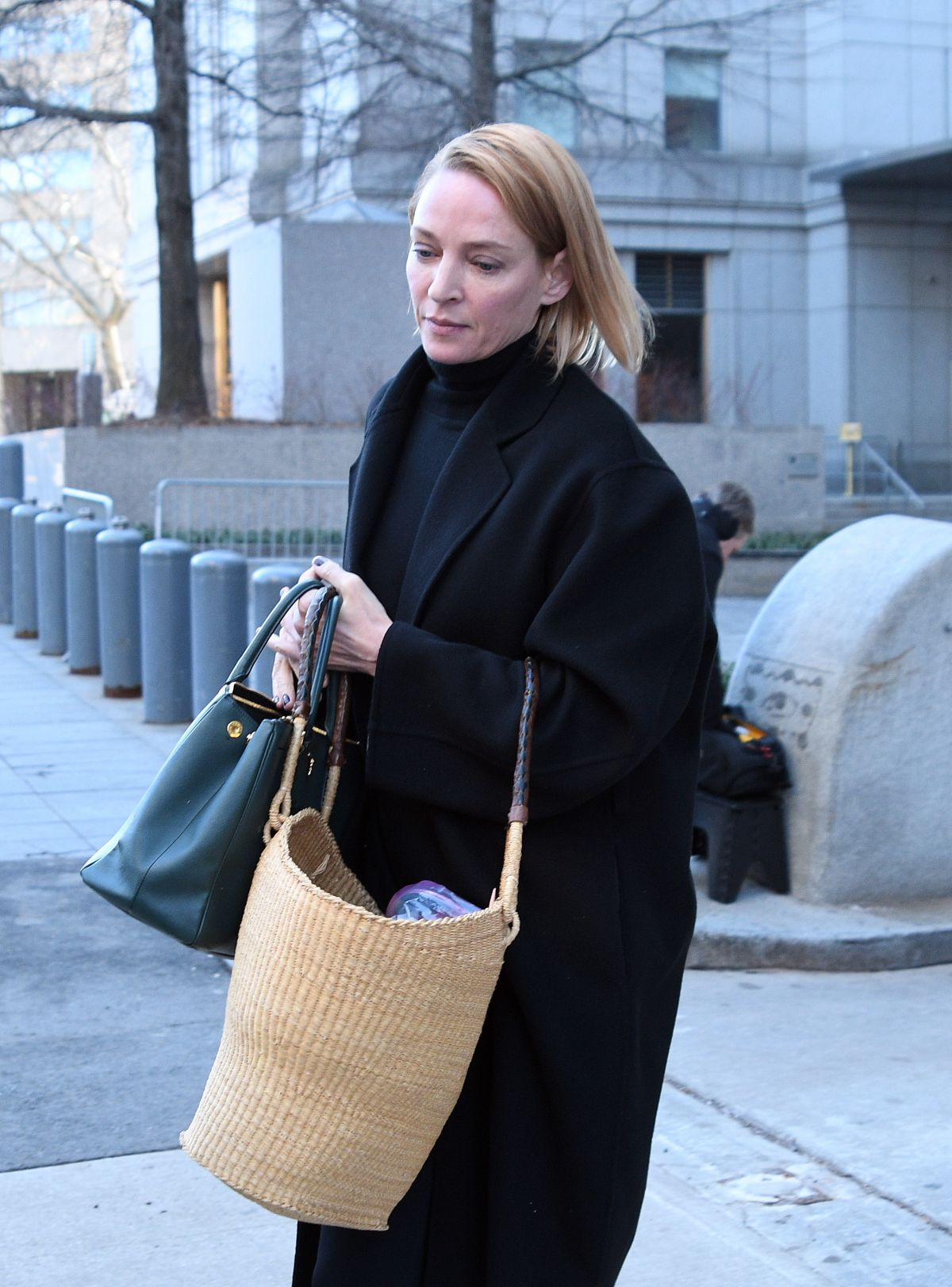 UMA THURMAN Out and About in New York 01/13/2017 ... Uma Thurman About