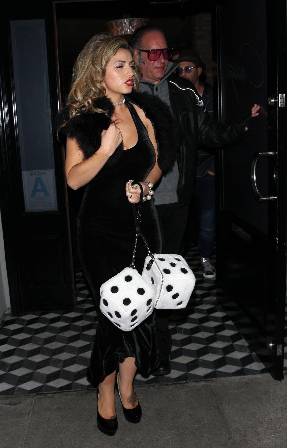 VALERIE VASQUEZ Leaves a Dinner in West Hollywood 01/13 ...