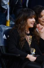 VANESSA and STELLA HUDGENS and ASHLEY TISDALE at Lakers vs Pistons Game in Los Angeles 01/15/2017