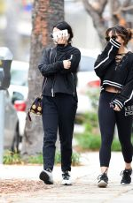 VANESSA and STELLA HUDGENS Heading to a Gym in Los Angeles 01/02/2017