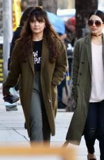 VANESSA and STELLA HUDGENS Out Shopping in Studio City 01/24/2017