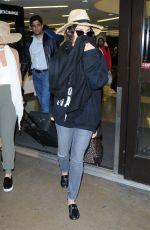 VANESSA HUDGENS at LAX Airport in Los Angeles 01/08/2017