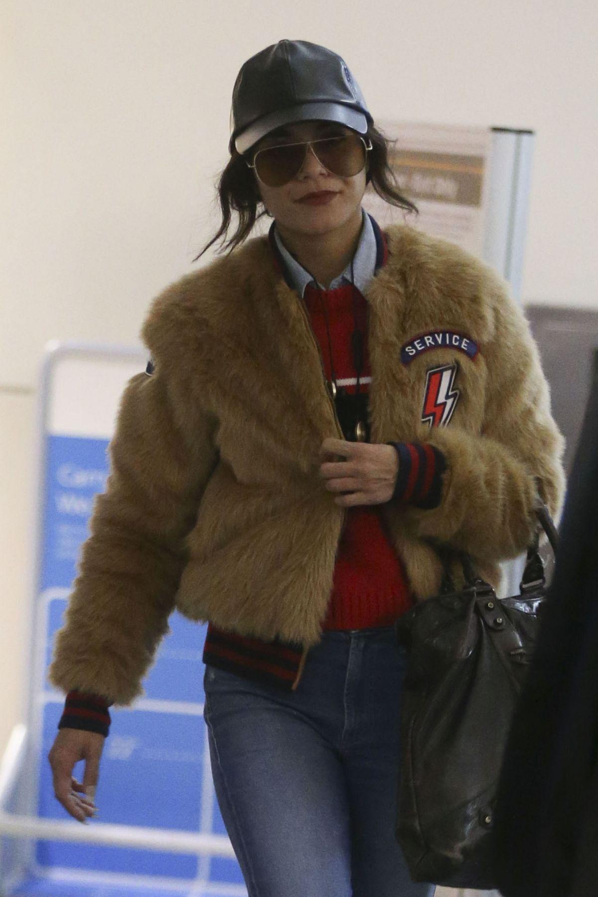 VANESSA HUDGENS at Los Angeles International Airport 01/30/2017