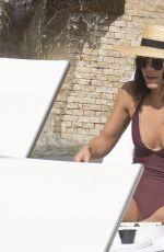 VANESSA HUDGENS in Swimsuit at a Pool in Miami 01/28/2017
