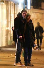 VANESSA PARADIS and Samuel Benchetrit Night Out in Paris 01/11/2017