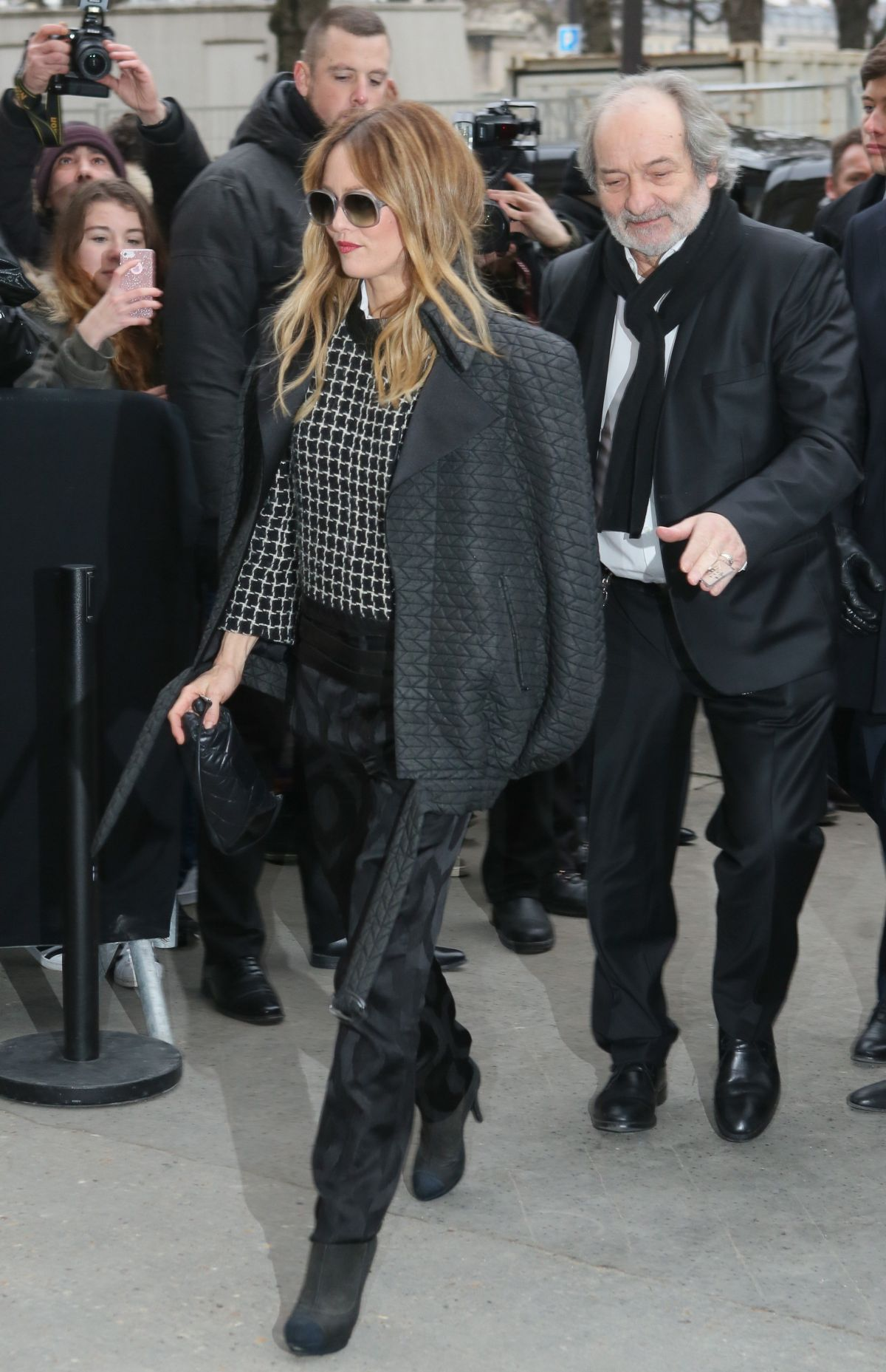 VANESSA PARADIS Arrives at 2nd Chanel Fashion Show at Paris Fashion Week 01/24/2017