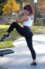 VICTORIA BANXXX Working Out at a Park in Miami 01/24/2017