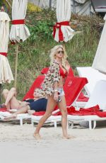 VICTORIA SILVSTEDT on the Beach in St. Barts 01/08/2017