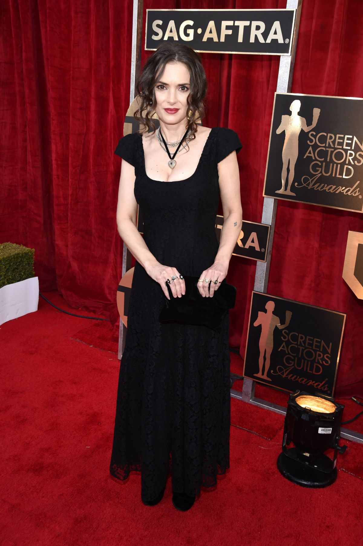 WINONA RYDER at 23rd Annual Screen Actors Guild Awards in Los Angeles 01/29/2017
