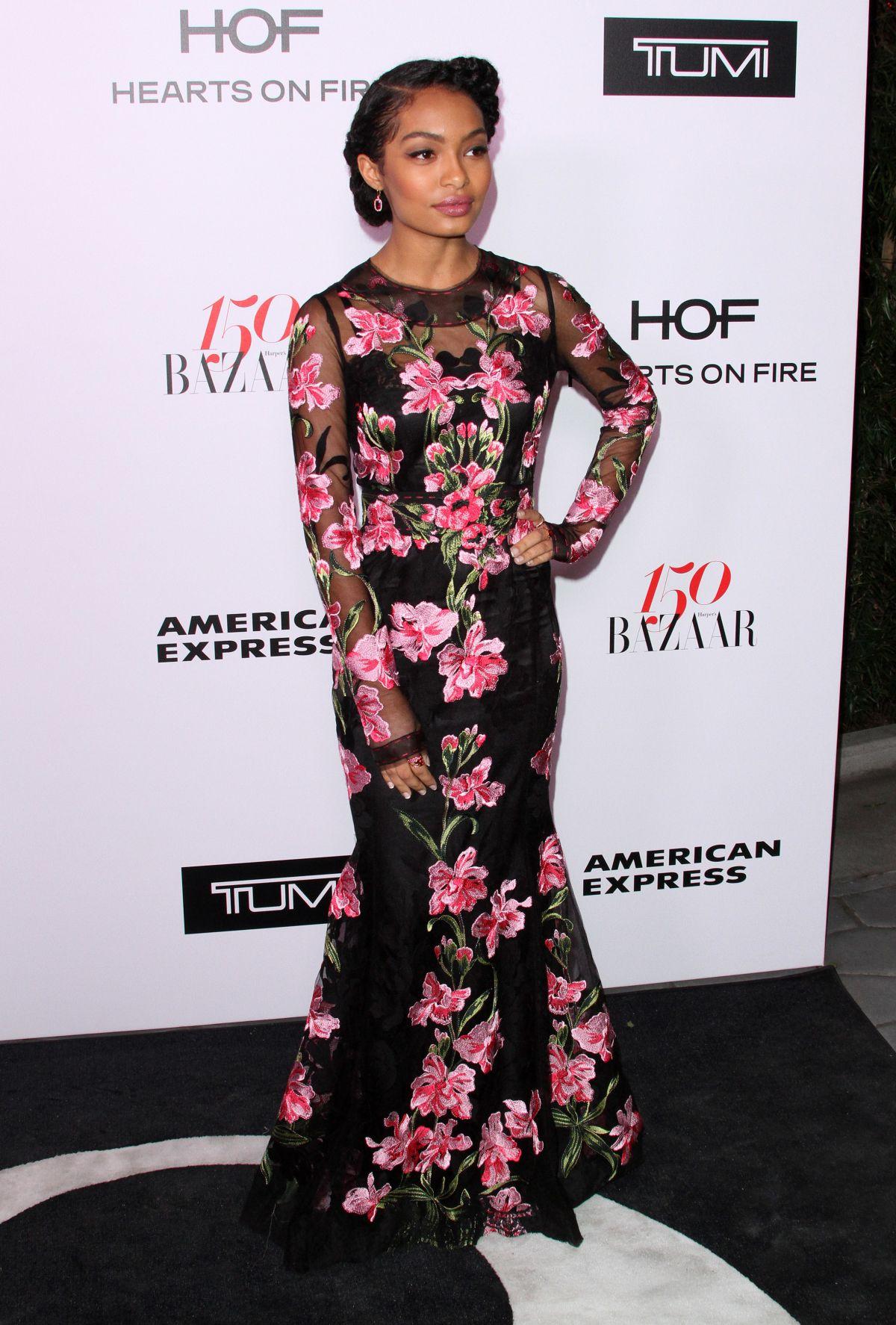 YARA SHAHIDI at Harper's Bazaar 150 Most Fashionable Women Party in Hollywood 01/27/2017