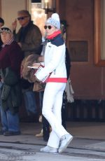 YOLANDA HADID Out and About in Aspen 12/29/2016