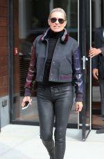 YOLANDA HADID Out in New York 01/30/2016