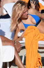 ZARA LARSSON in Bikini on the Beach in Miami 01/12/2017