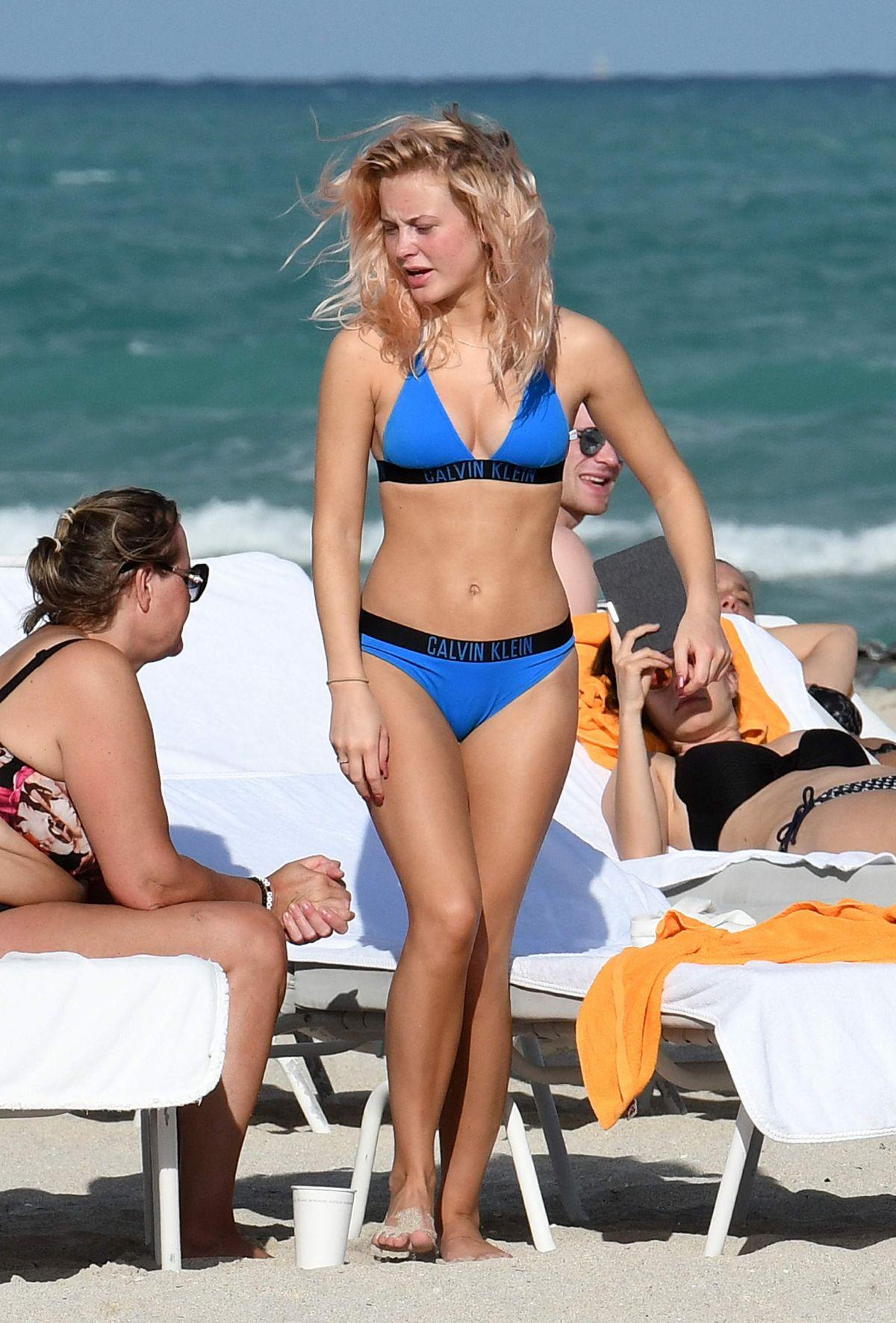 ZARA LARSSON in Bikini on the Beach in Miami 01/12/2017 ...