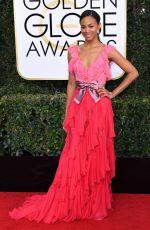 ZOE SALDANA at 74th Annual Golden Globe Awards in Beverly Hills 01/08/2017