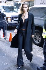 ABBEY LEE KERSHOW Arrives at Calvin Klein Fashion at New York Fashion Week 02/10/2017