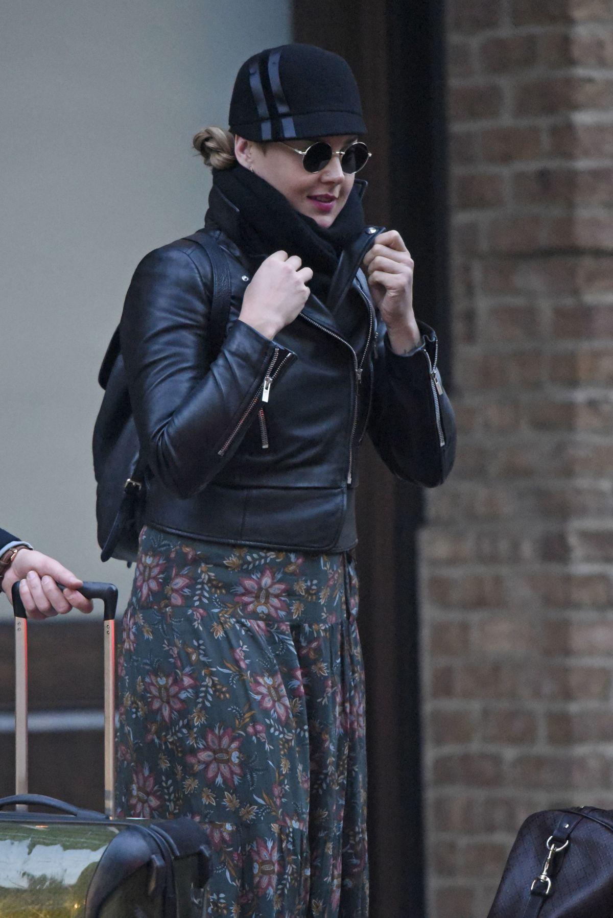 ABBIE CORNISH Leaves Her Hotel in New York 02/01/2017