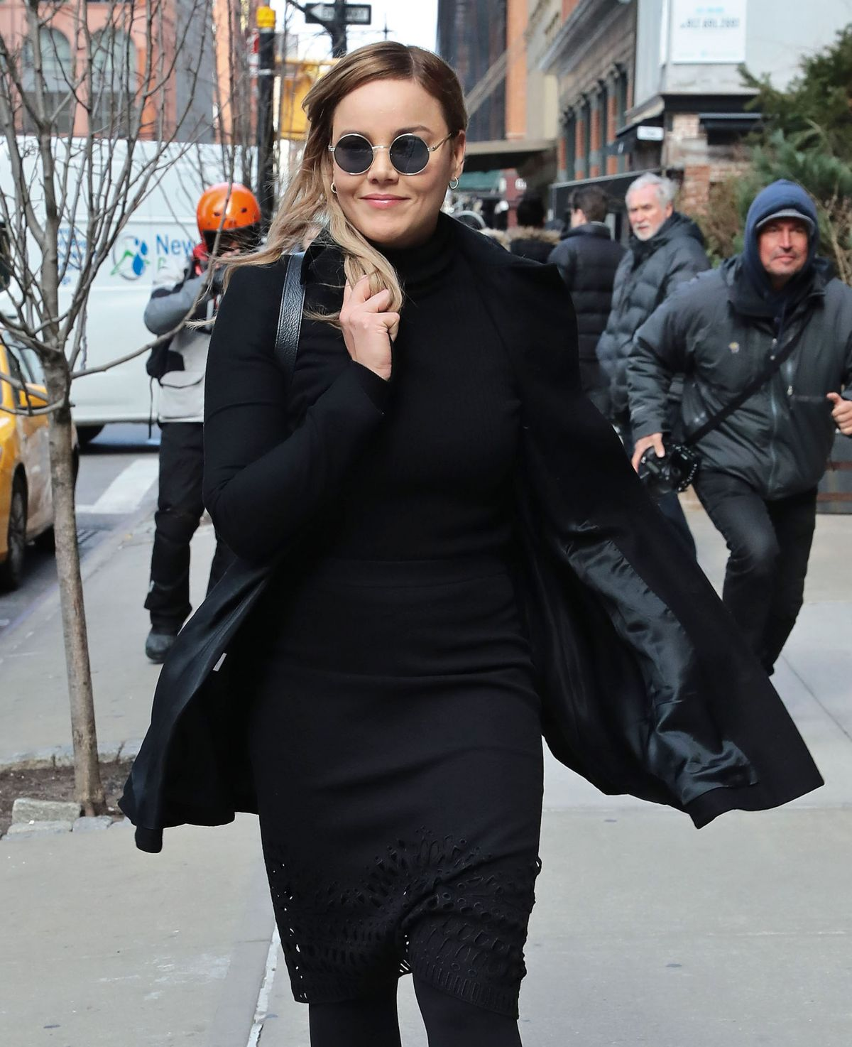 ABBIE CORNISH Out in New York 02/02/2017