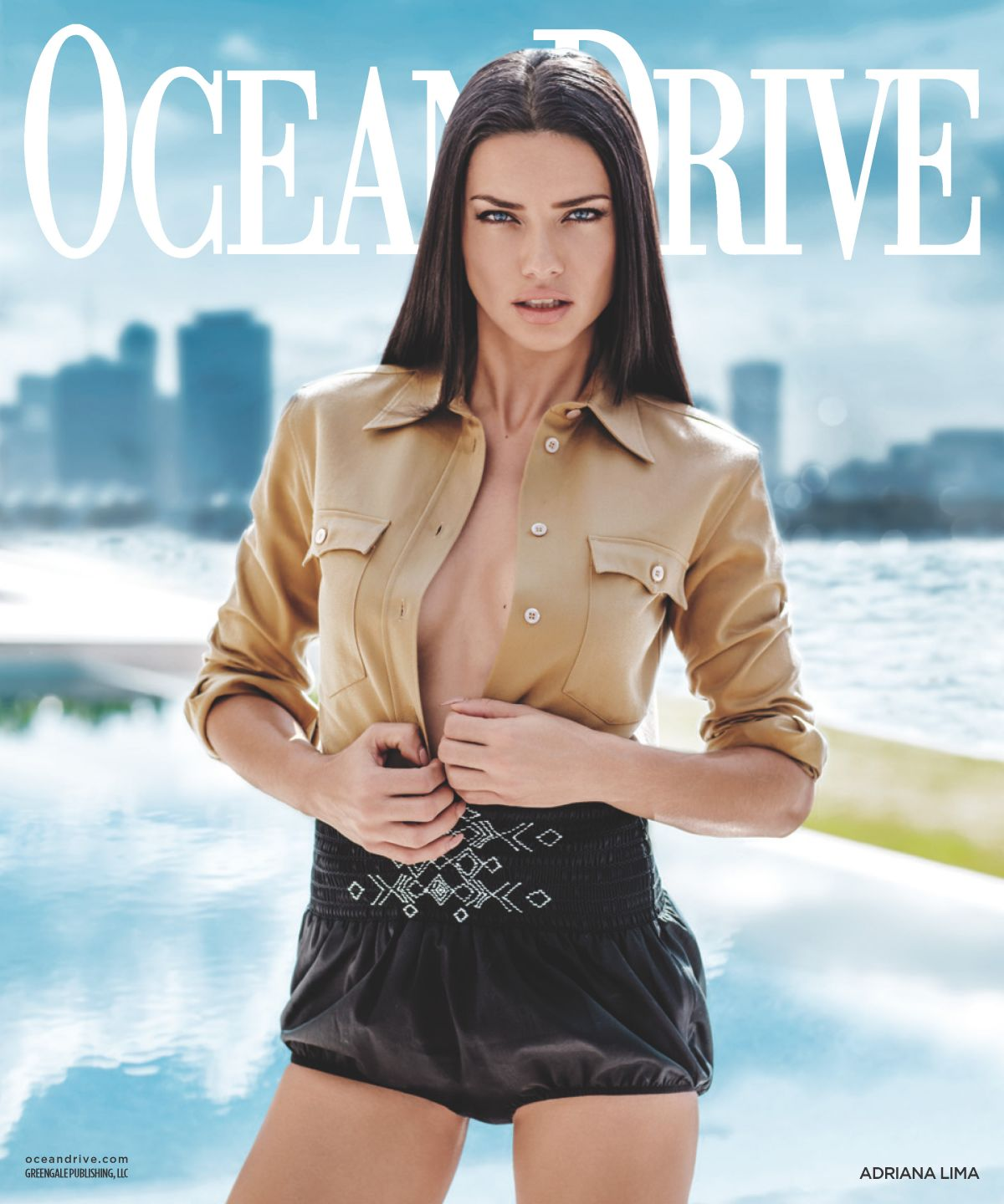 ADRIANA LIMA in Ocean Drive Magazine, March 2017