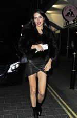 ADRIANA LIMA Night Out in London 02/19/2017