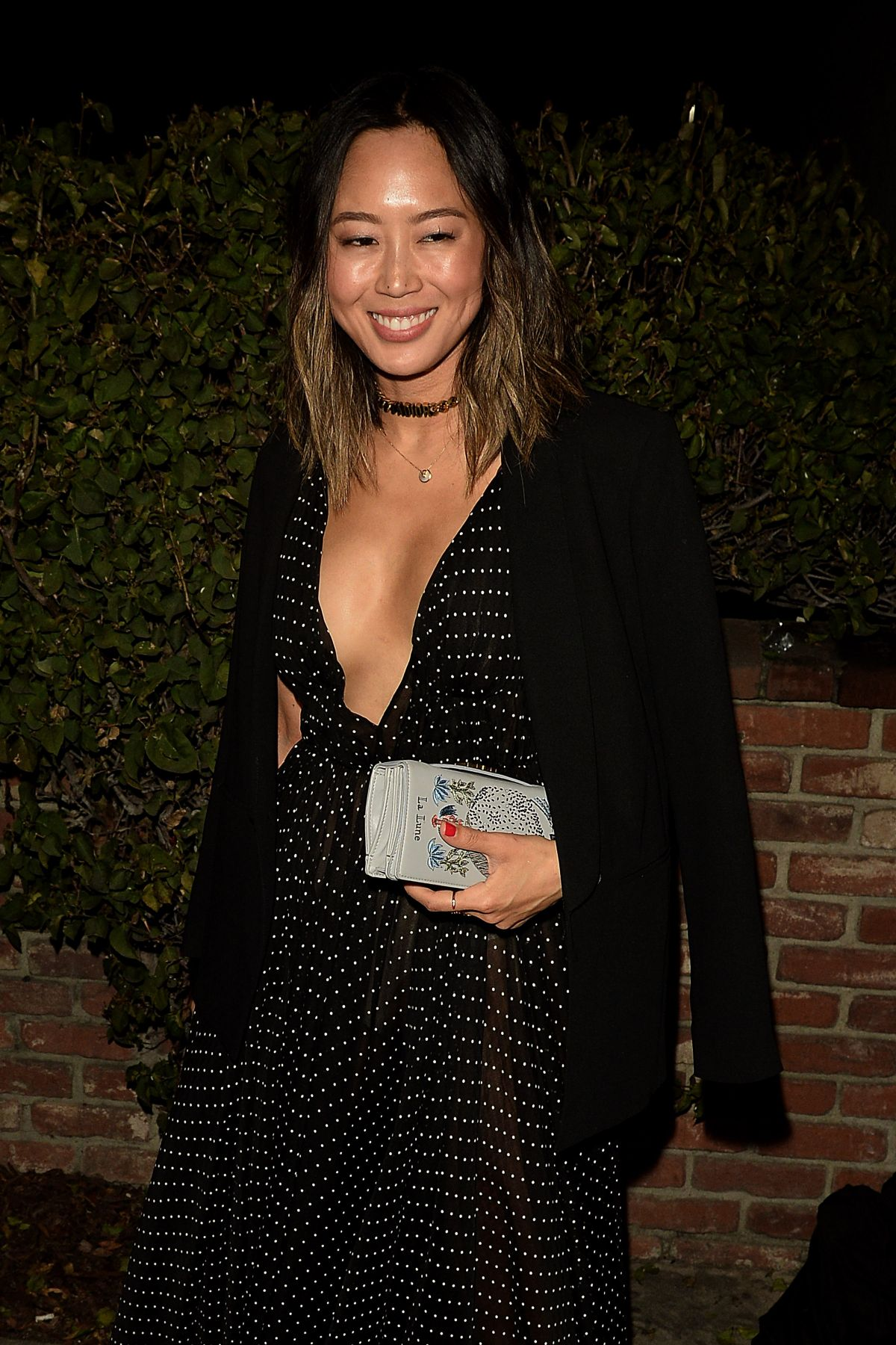AIMEE SONG Arrives at Dior Party in West Hollywood 02/08/2017