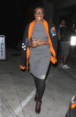AISHA HINDS Leaves Catch LA in West Hollywood 01/31/2017